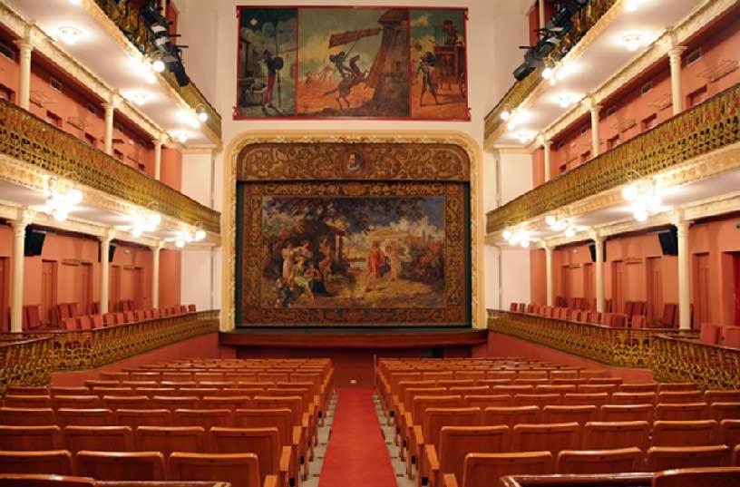 Teatro Cervantes en Abaran. Interior del teatro