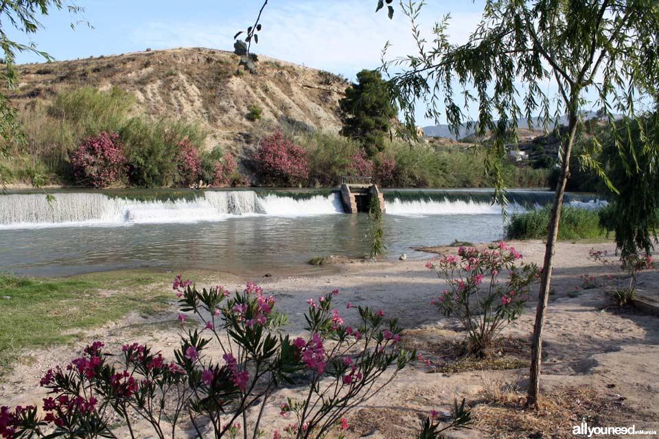 Ruta de las Norias en Abarán, Murcia. Parque presa el Jarral
