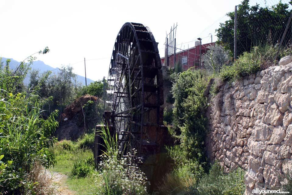 Waterwheel Route in Abarán, Murcia. Candelón Waterwheel