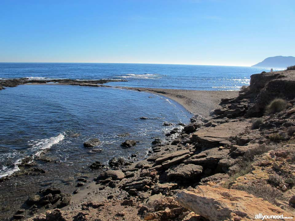 Encarná Cove in Águilas.Beaches of Murcia