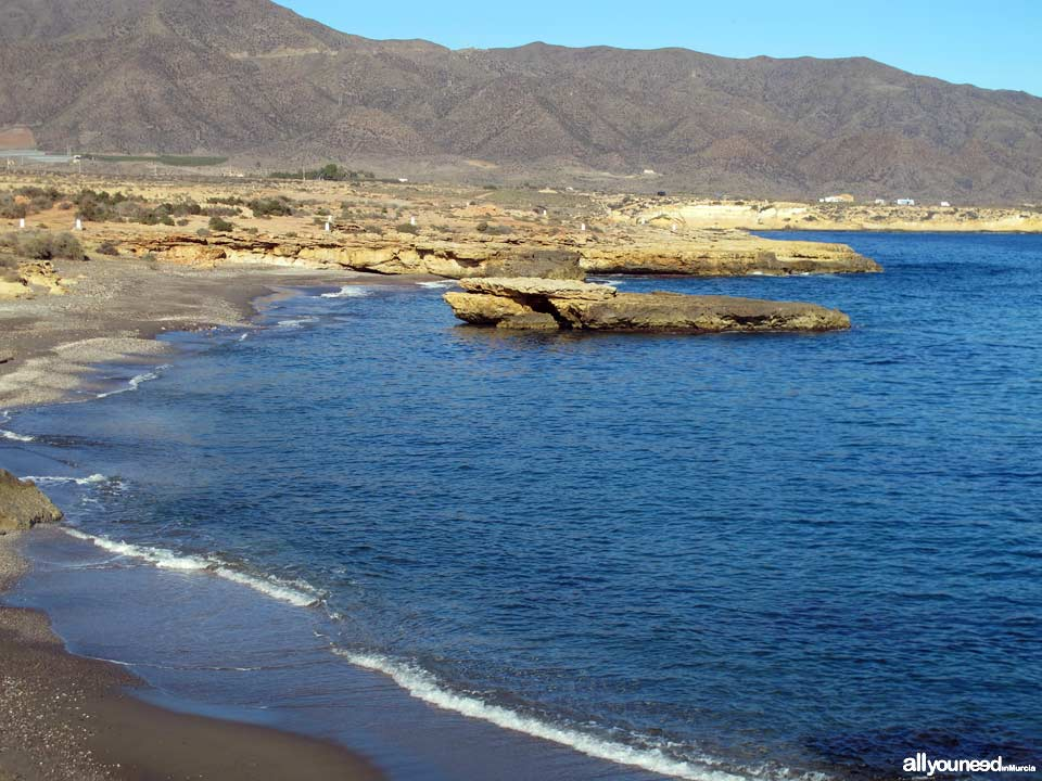 Beaches in Murcia. Galera Beach in Águilas