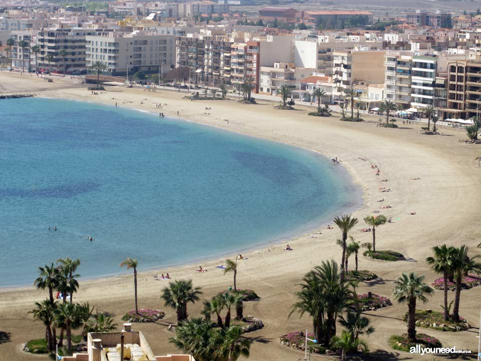 Beaches in Murcia. Colonia Beach in Águilas