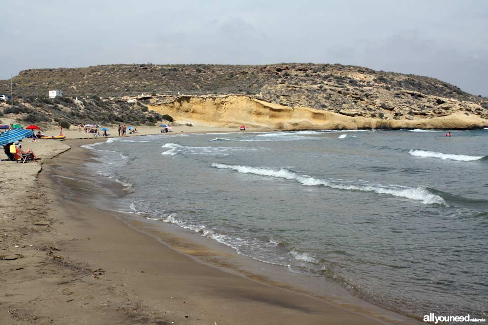 Beaches in Murcia. Carolina Beach in Águilas