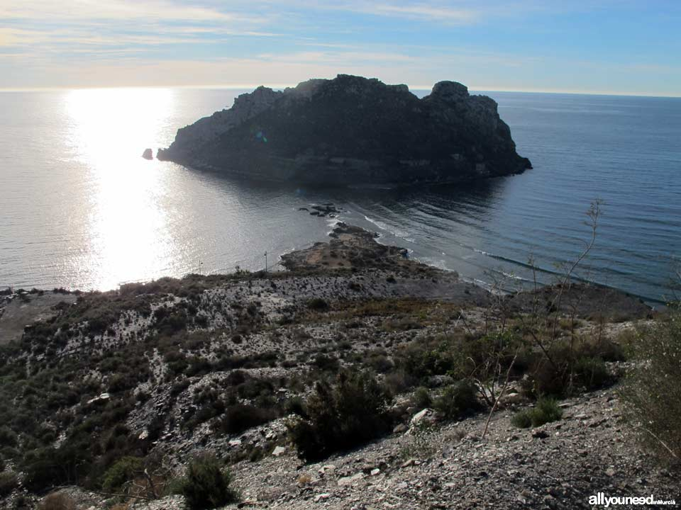 Panoramic Views of Águilas. Fraile Island