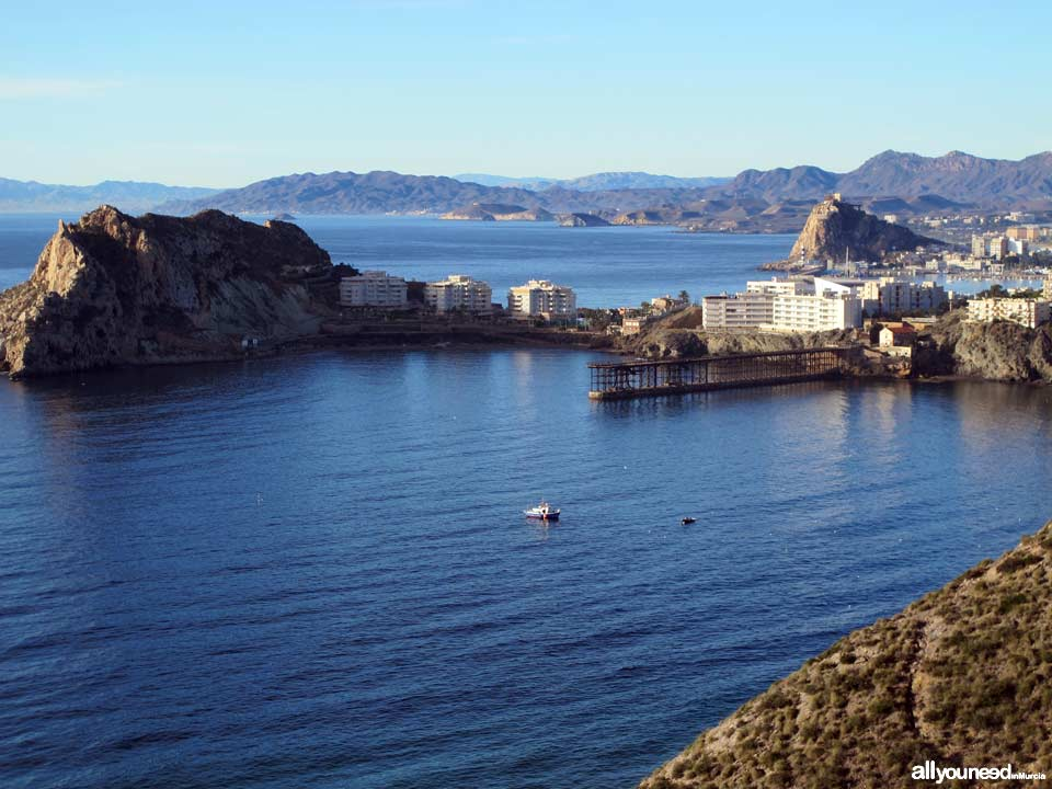 Panoramic Views of Águilas. Bay of Hornillo