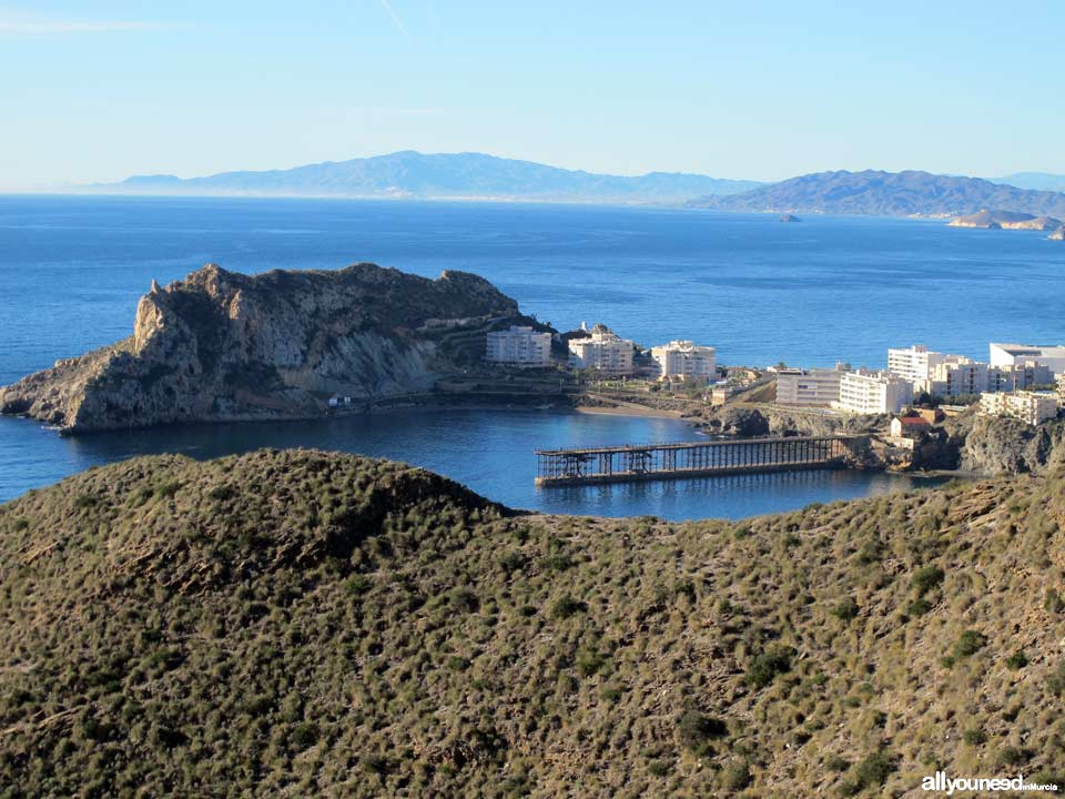 Panoramic Views of Águilas. Bays of Águilas and Coastline of Almería