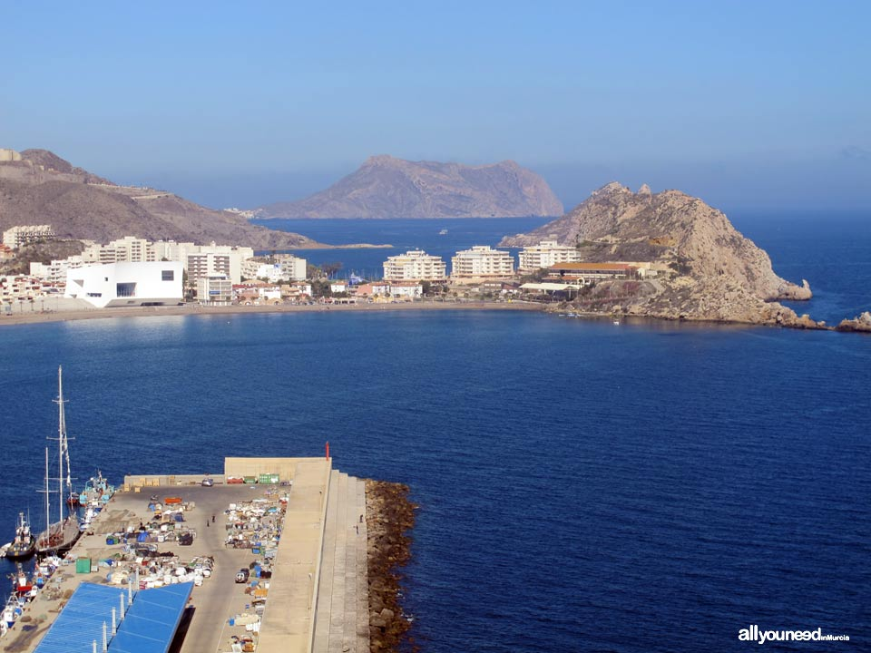 Panoramic Views of Águilas. Poniente Bay (SW)