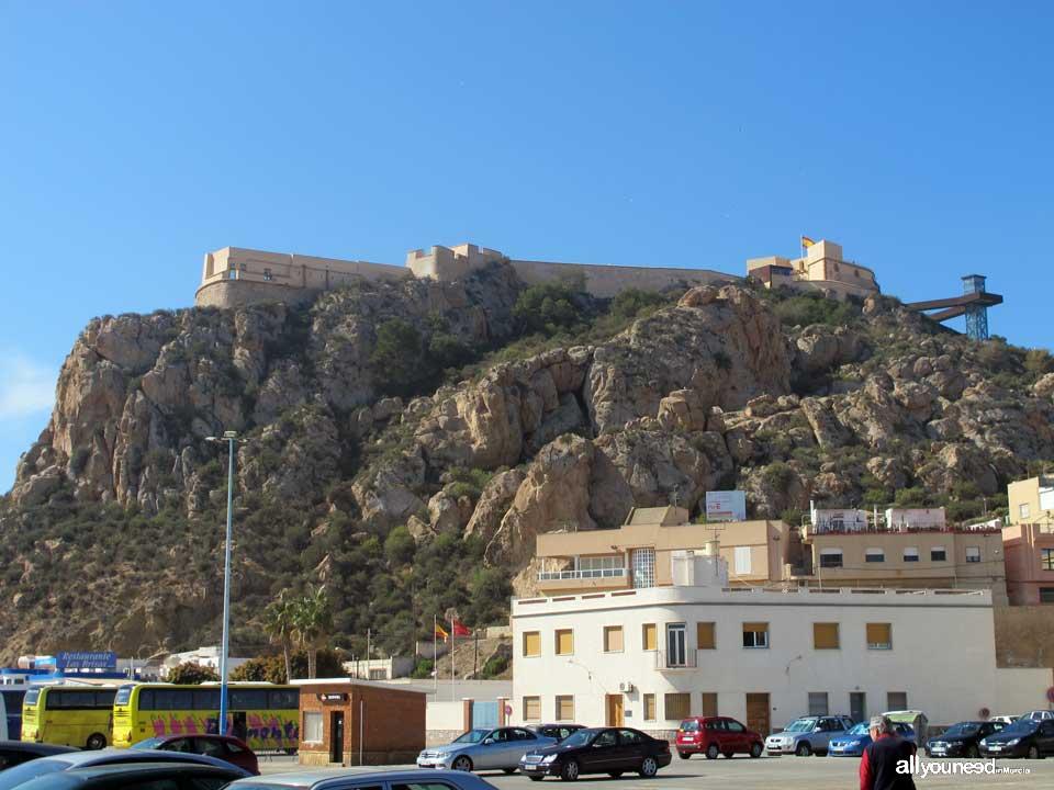Guide of Castles in Murcia. Castle San Juan de las Águilas. Spain
