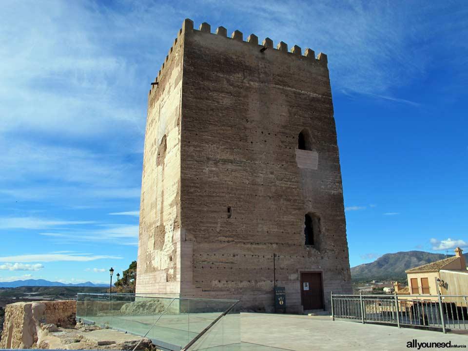 Guide of Castles in Murcia. Aledo Castle-Tribute Tower. Spain