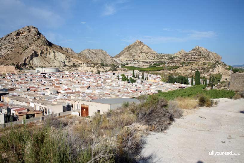 Cabezo del Tío Pío, poblado íbero. Vistas del cementerio