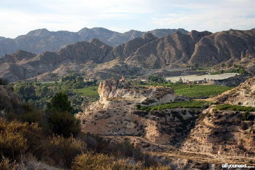 Cabezo del Tío Pío, poblado íbero. Vistas valle del Segura