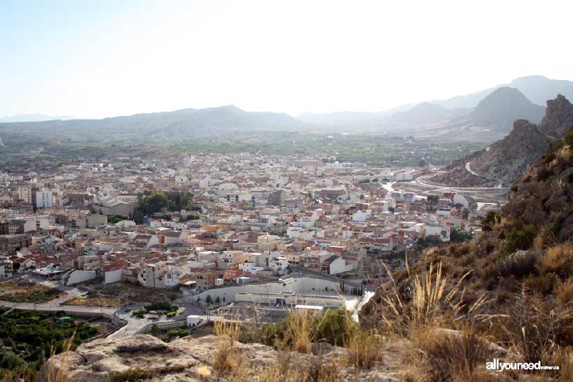 Cabezo del Tío Pío, poblado íbero. Vistas de Archena