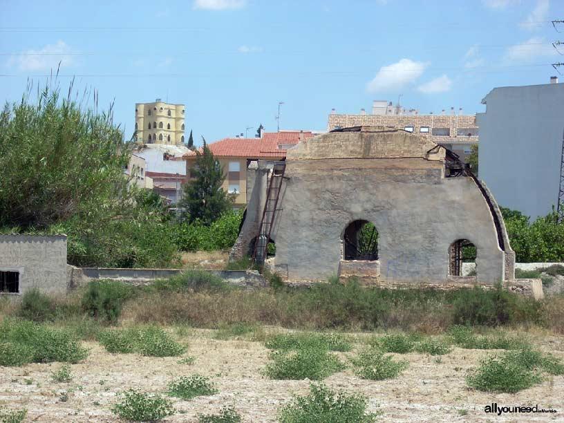 Del Otro Lao Water wheel in Archena -Murcia- . Spain