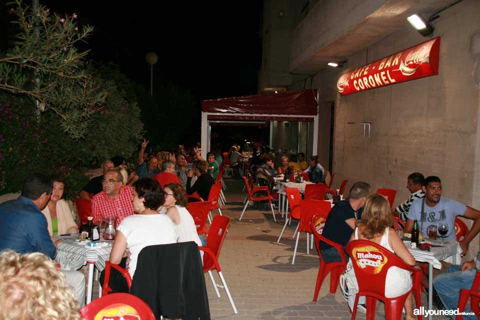 Café Bar Coronel en Bullas. Bar de tapas y comidas con terraza