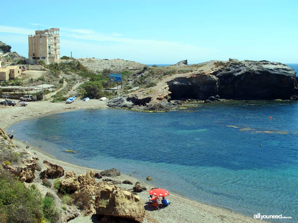 Beaches in Murcia. Descargador Cove in Cabo de Palos