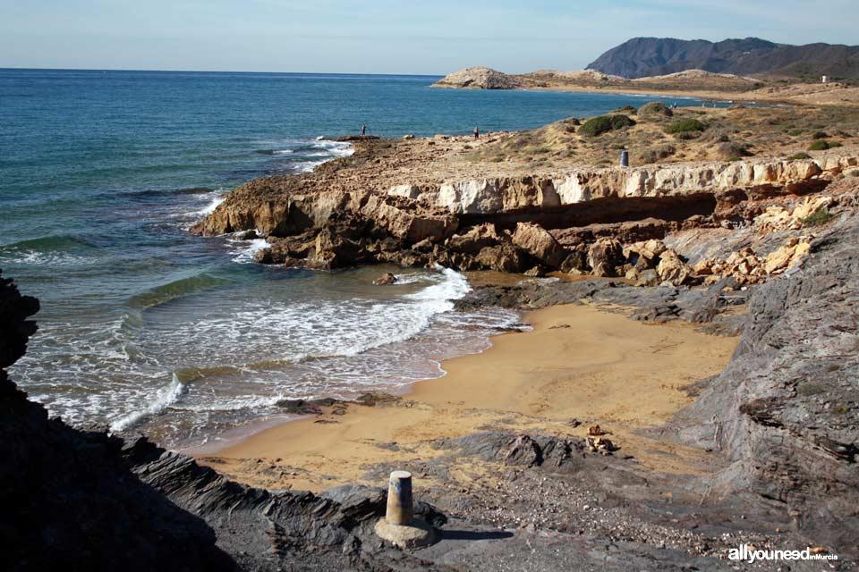 Cove near Déntoles cove Calblanque beaches in Murcia