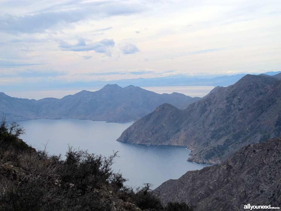 Panorámicas desde el Monte Roldánen Cartagena. Bahía Cabo Tiñoso