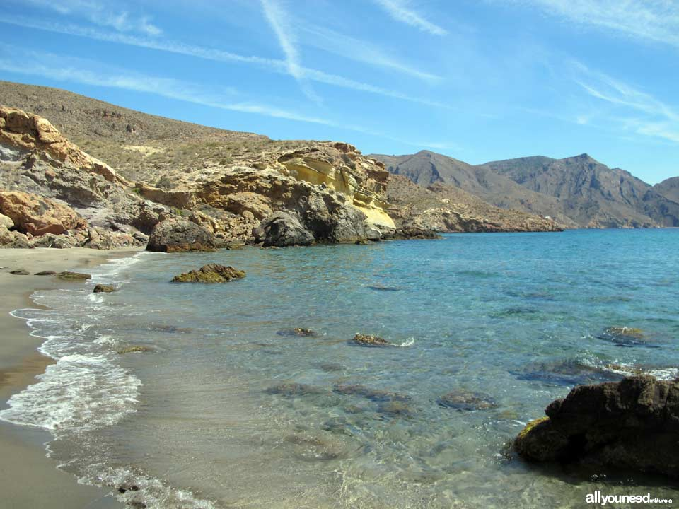 Cove between Salitrona and Pozo de la Avispa. Tiñoso Cape