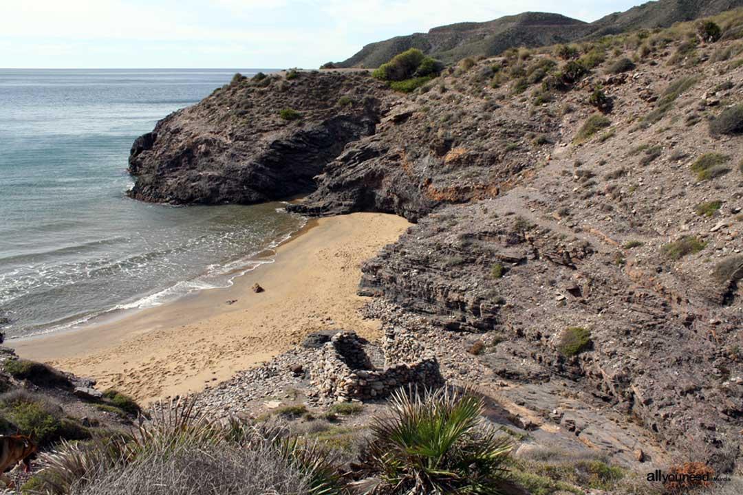 Calblanque beaches in Murcia. Huncos Cove