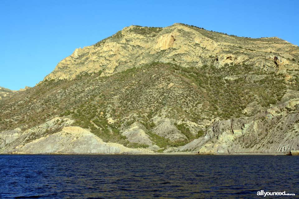 Fatares Beach in Cartagena and Roldan mountain