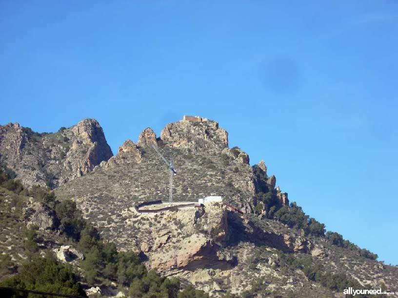 Poblado de Medina Siyâsa y castillo en lo alto
