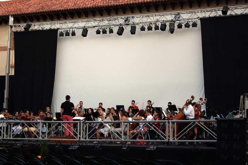 Fiesta de la Vendimia de Jumilla. Ensayo actuación de la orquesta de la UCAM