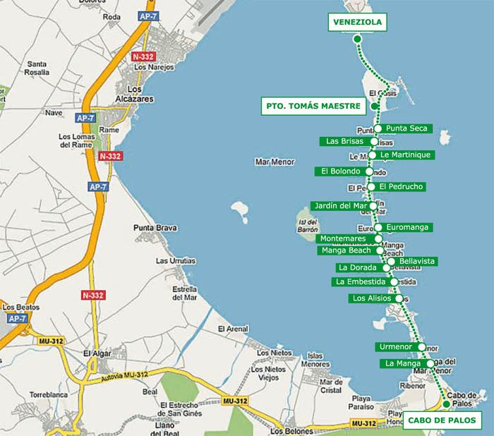 Horarios barcos y autobuses en La Manga y Mar Menor