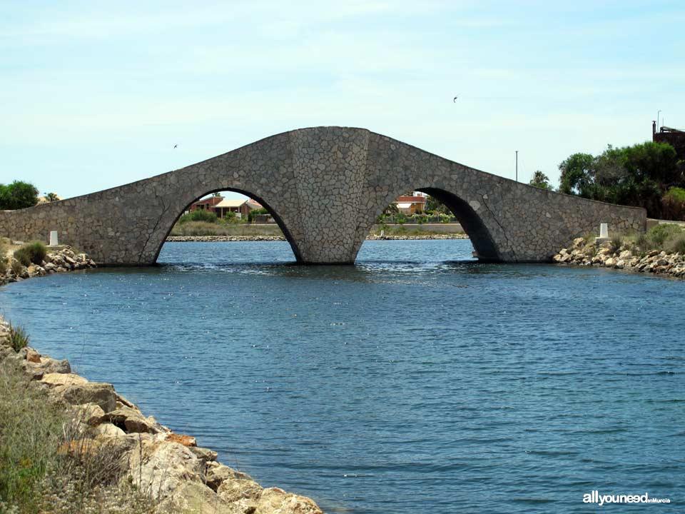 Golas de Veneziola in la Manga del Mar Menor. Laughter Bridge