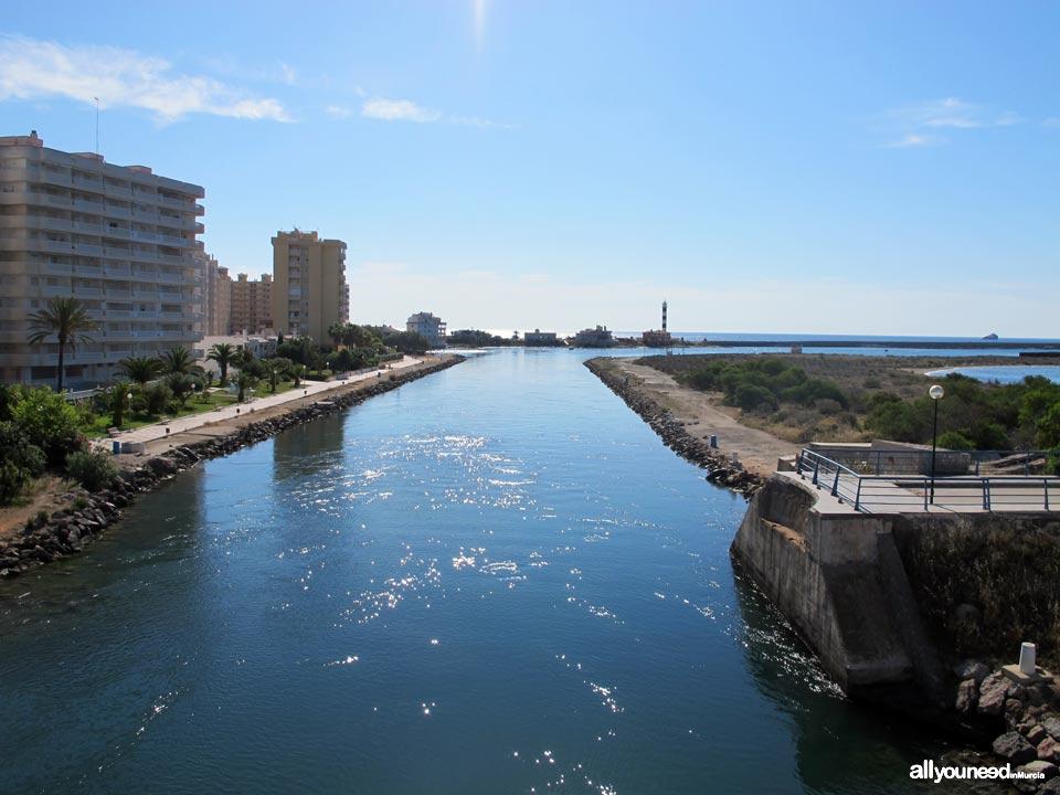 Gola del Estacio en La Manga del Mar Menor