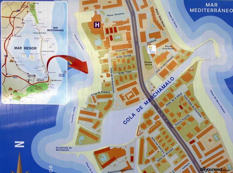 Gola de Marchamalo en La Manga del Mar Menor