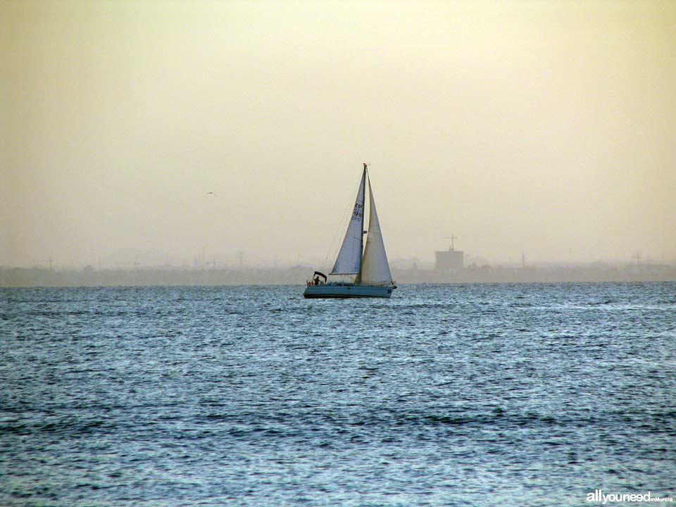 Atardecer en La Manga y Mar Menor