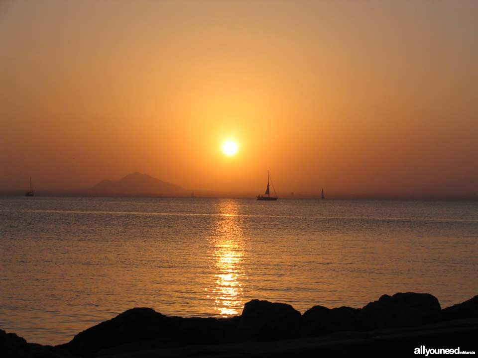 Sunset in La Manga del Mar Menor. Tomás Maestre Port