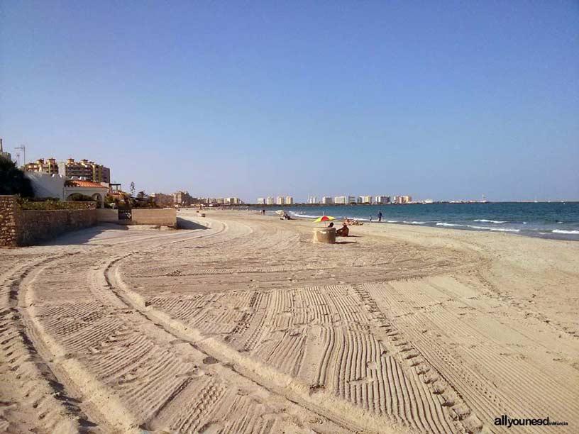Playa del Estacio. Playas de La Manga del Mar Menor