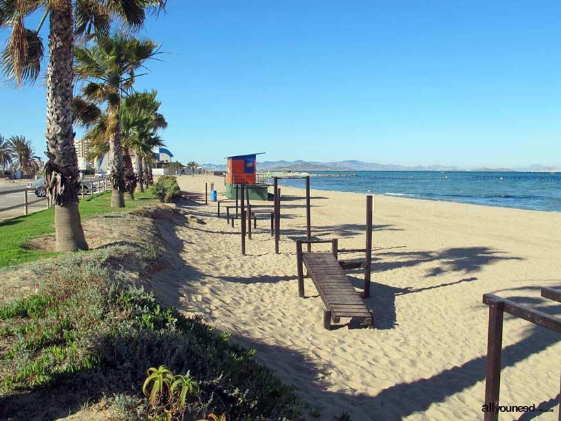 Playa Mistral. Playas de La Manga del Mar Menor