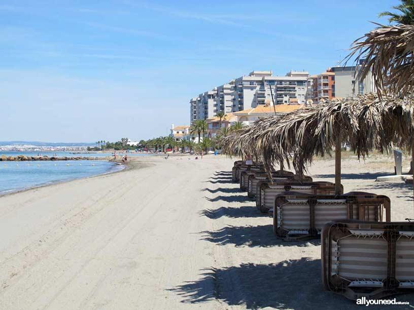 Playa Chica. Playas de La Manga del Mar Menor