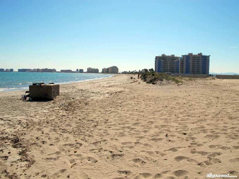 Playa del Pudrimel. Playas de La Manga del Mar Menor