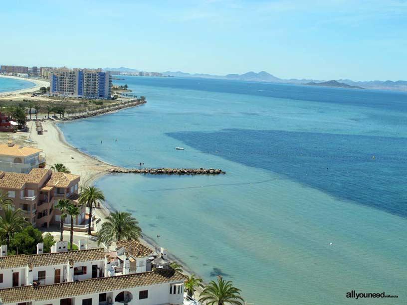 Playa de Veneziola. Playas de La Manga del Mar Menor
