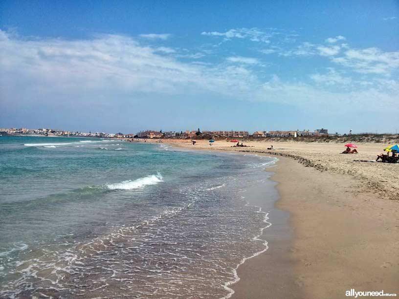 Playa de las Amoladeras. Playas de La Manga del Mar Menor