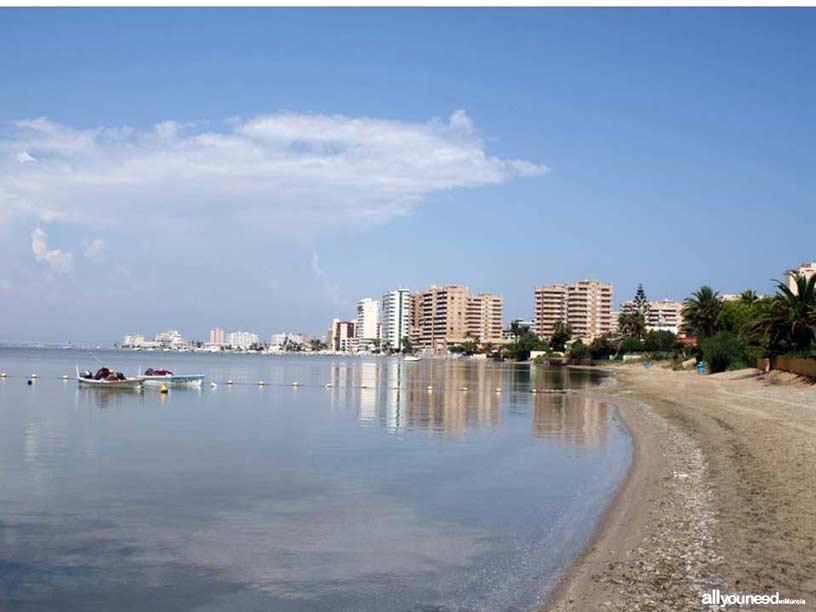 Playa de la Isla. Playas de La Manga del Mar Menor