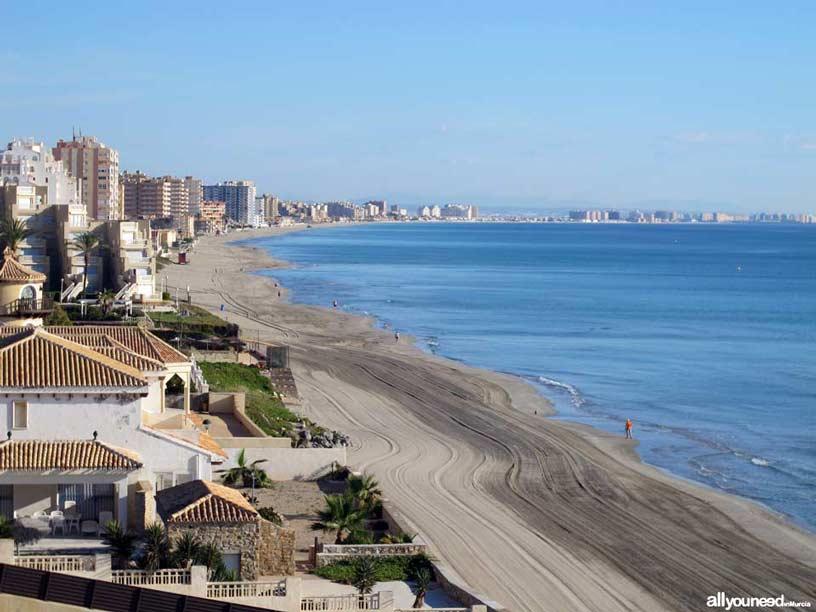 Playa el Pedrucho. Playas de La Manga del Mar Menor