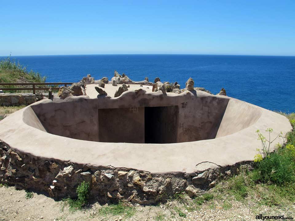 Coastal Battery of Guns in Portman. Spain