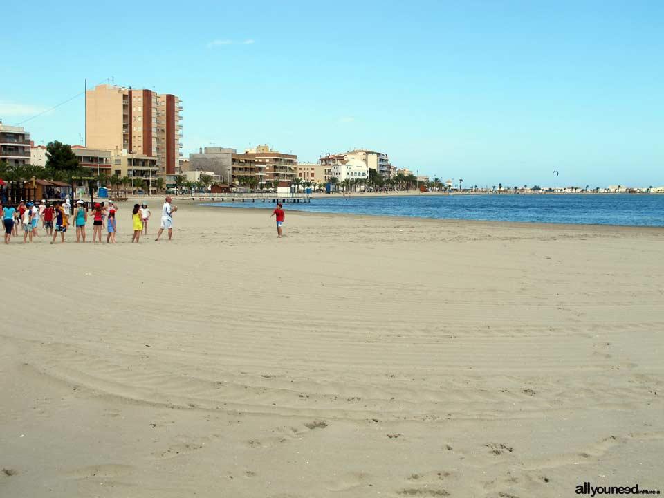 Playa de Villananitos. Playas de San Pedro del Pinatar