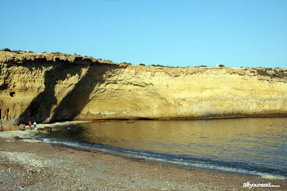 Blanca Cove in Lorca. Beaches of Murcia