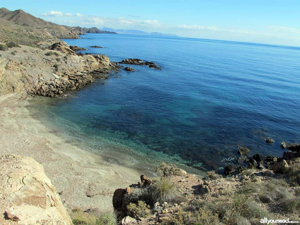 Leña Cove. Beaches in Lorca