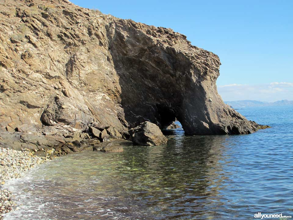 Playa de la Gruta. Playas de Lorca
