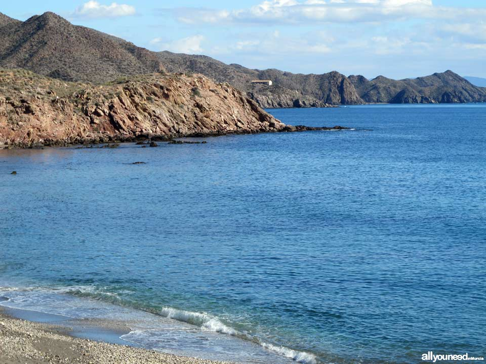 Hierros Beach. Beaches in Lorca