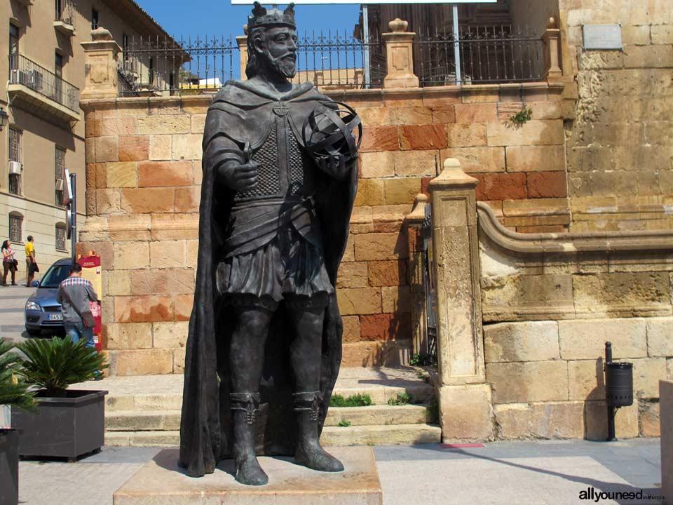 Plaza de España. Lorca. Alfonso X El sabio