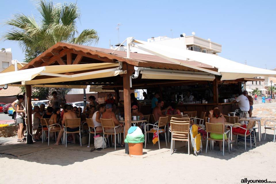 Playa Manzanares en los Alcázares. Chiringuito Mikado