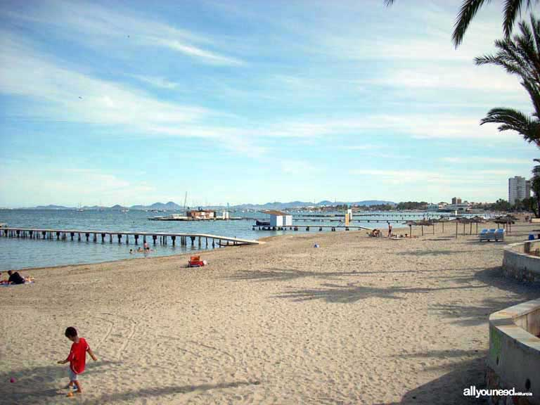 Mar Menor. Playa de Colon en Santiago de la Ribera