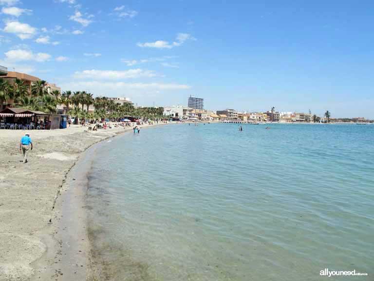 Mar Menor. Playa de Manzanares en Los Alcázares